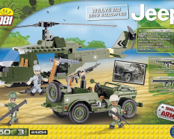 COBI 24254 Jeep Willys с вертолетом